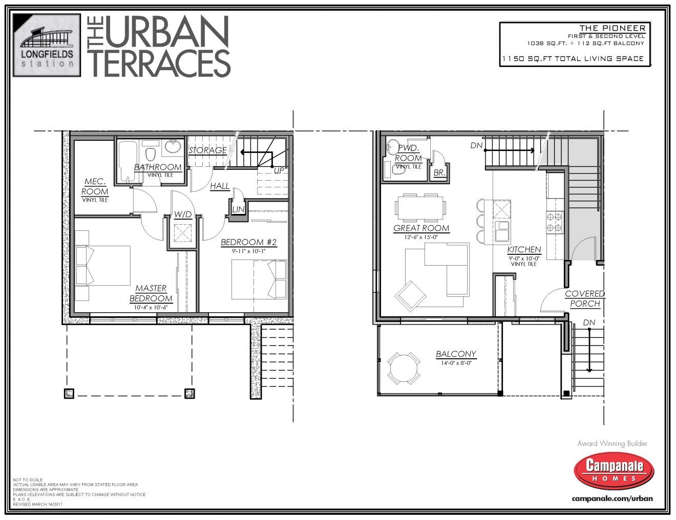 Terrace home in barrhaven for rent campanale management for Continental homes floor plans