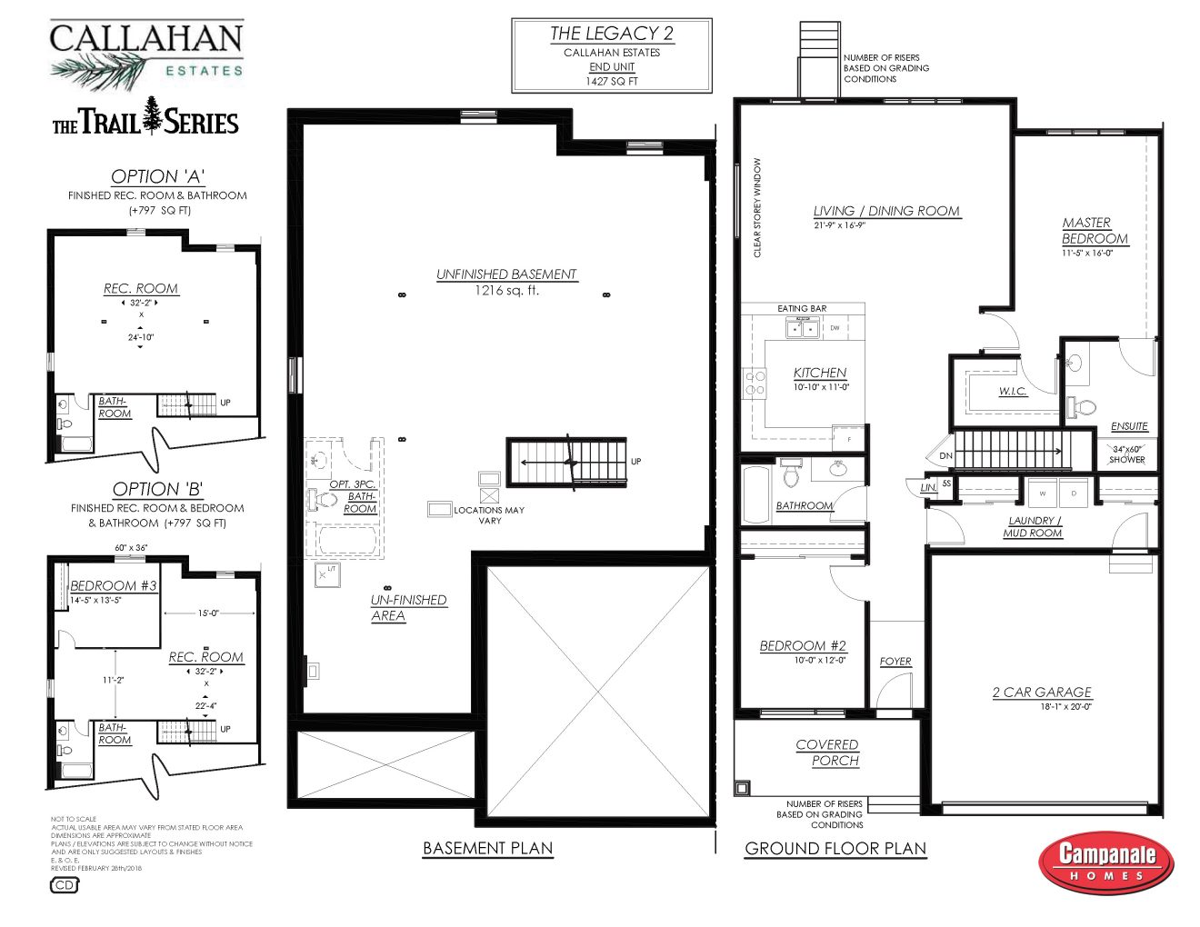 Arnprior, attached Bungalows, townhomes, New, Affordable, Callahan Estates, Award-Winning Builder, Short Drive from Kanata, Campanale Homes