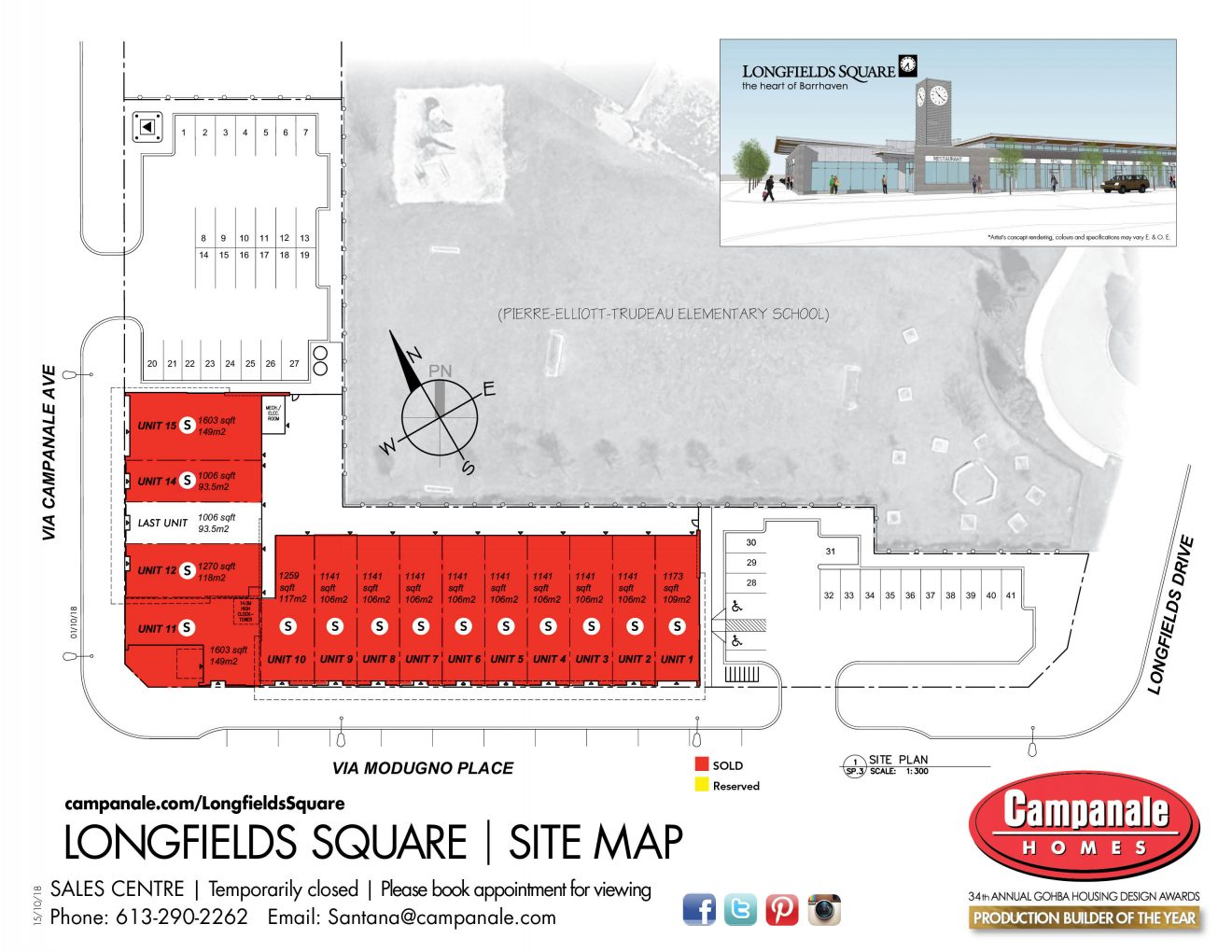 Longfields Station - Site Map