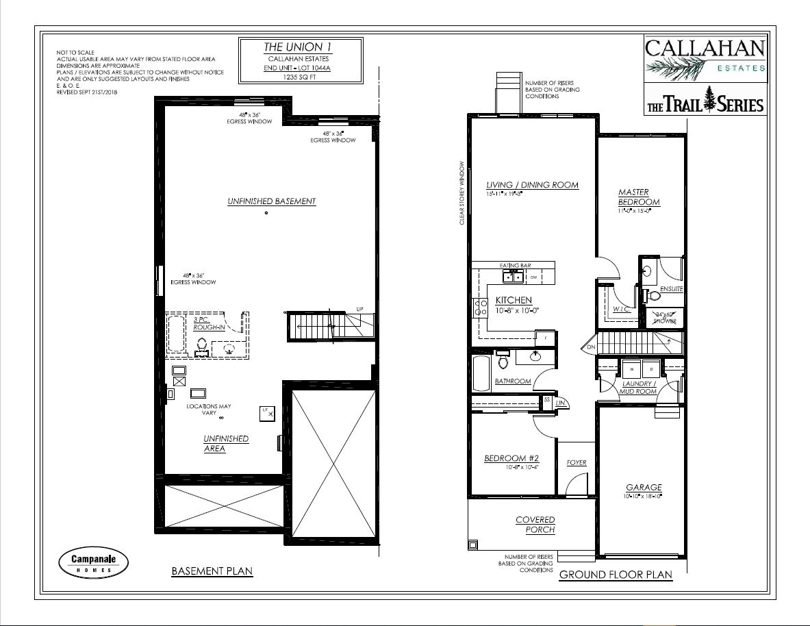 The Union 1 | Attached Bungalow | 1045A - Campanale Homes